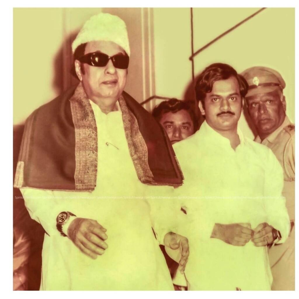 J.C.D.Prabhakar with Dr. M.G.R