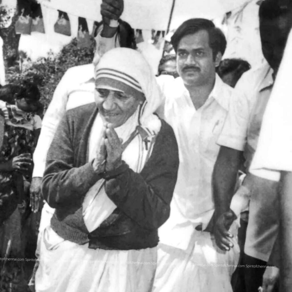 J.C.DPrabhakar hosts Mother Teresa