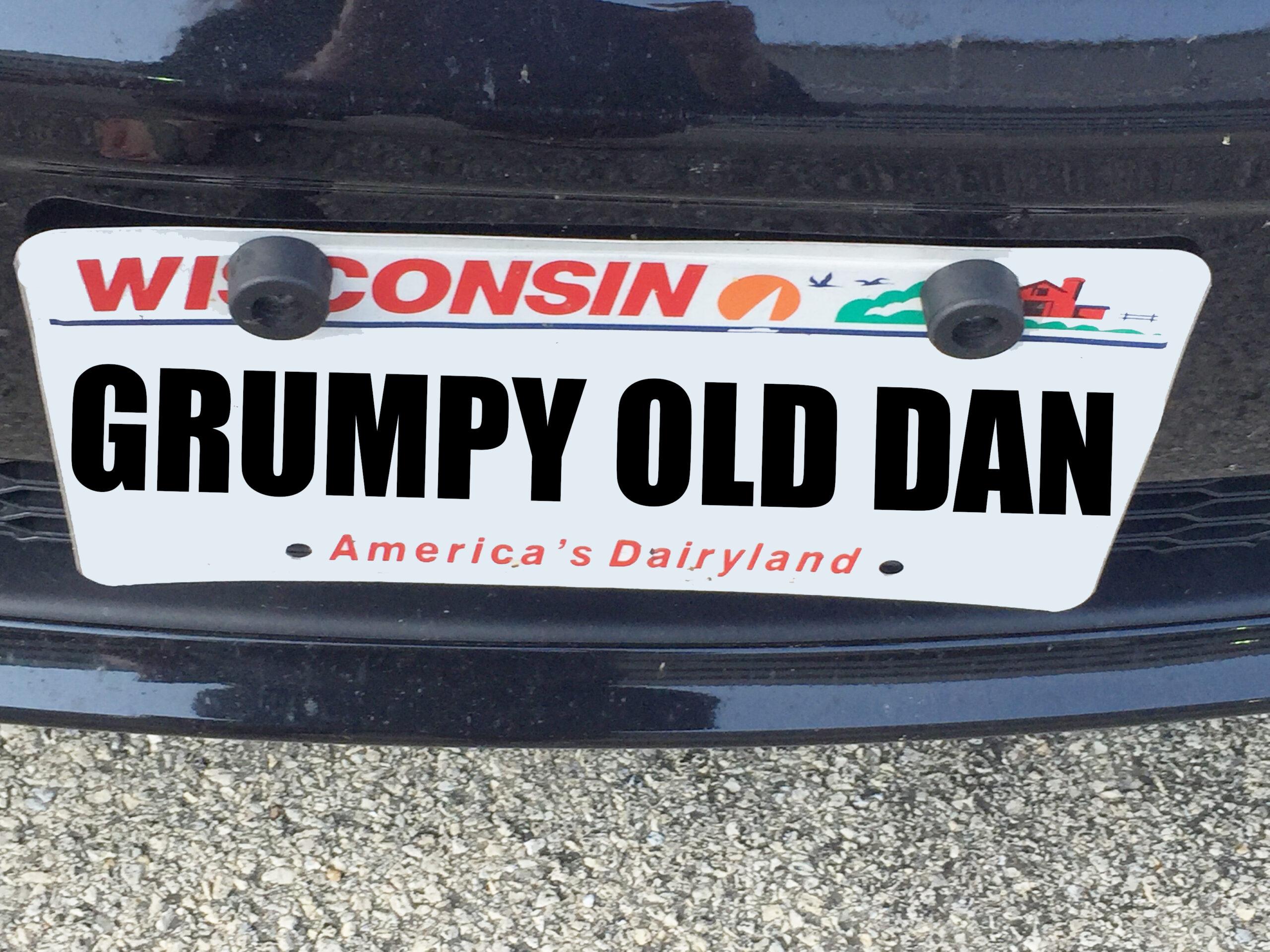 Grumpy Old Dan Smith bumper sticker
