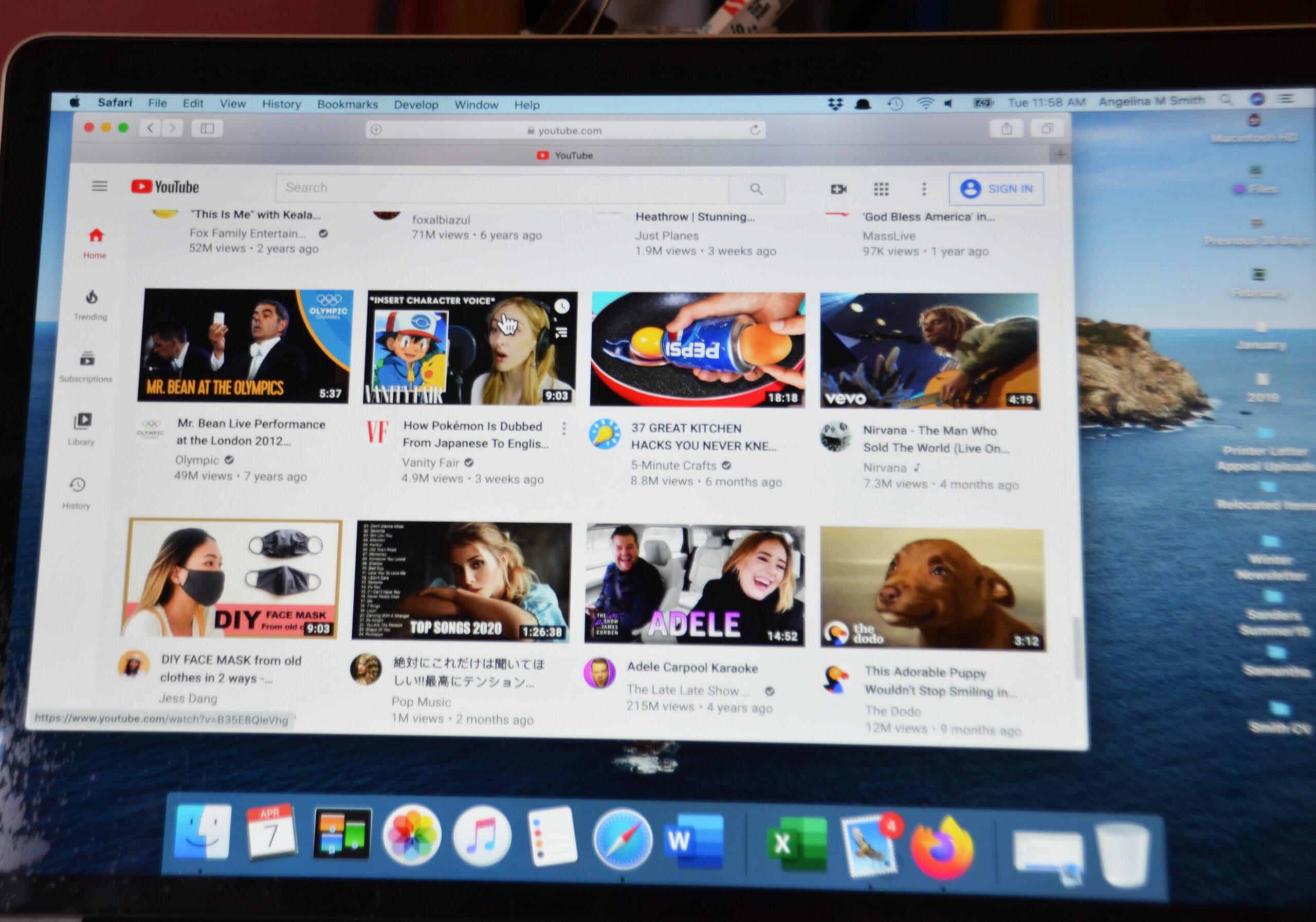 Miscellaneous computer screen