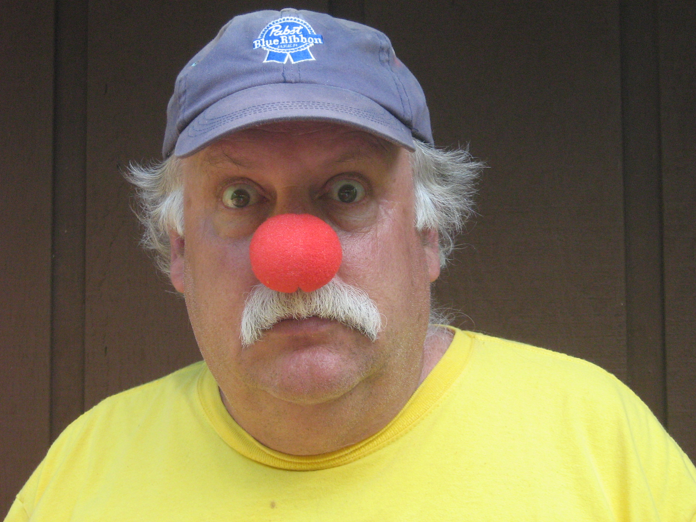 Dan Smith with a clown nose.