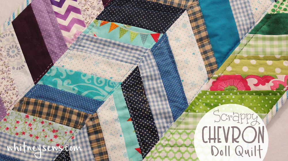 Scrappy-Chevron-Doll-Quilt-Whitney-Sews