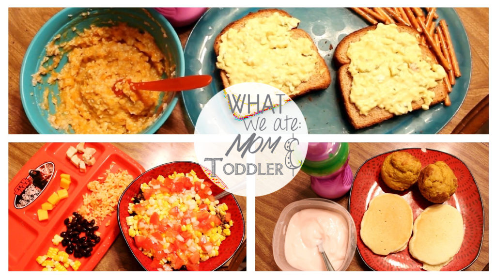 What We Ate - Mom and Toddler