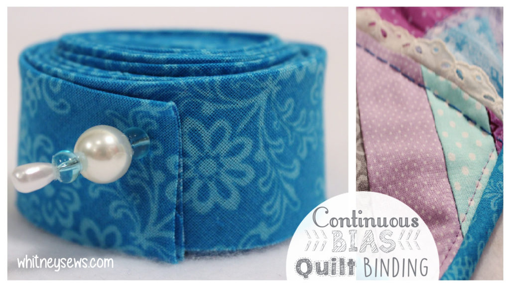 Continuous Bias Binding How to from Whitney Sews