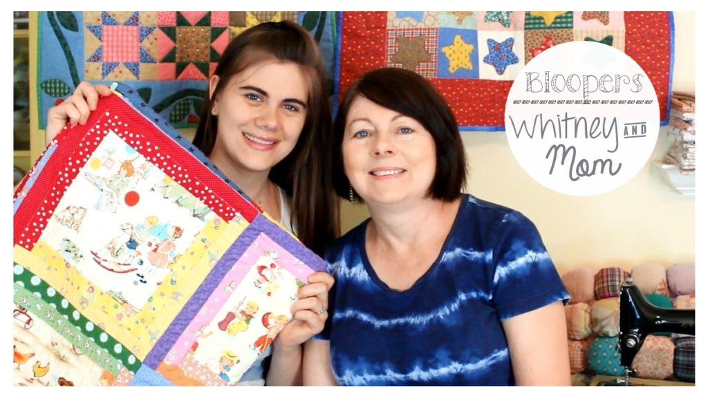 Bloopers from Whitney Sews and Mom