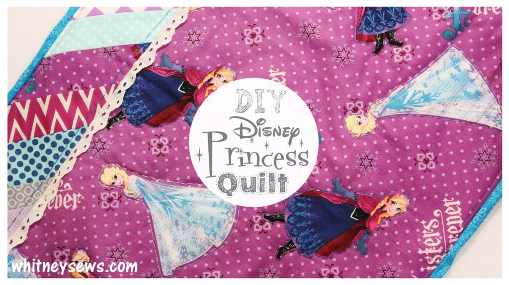 DIY Disney Princess Mini Quilt FREE How to from Whitney Sews