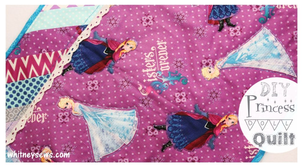 DIY Disney Princess Mini Doll Quilt How to from Whitney Sews
