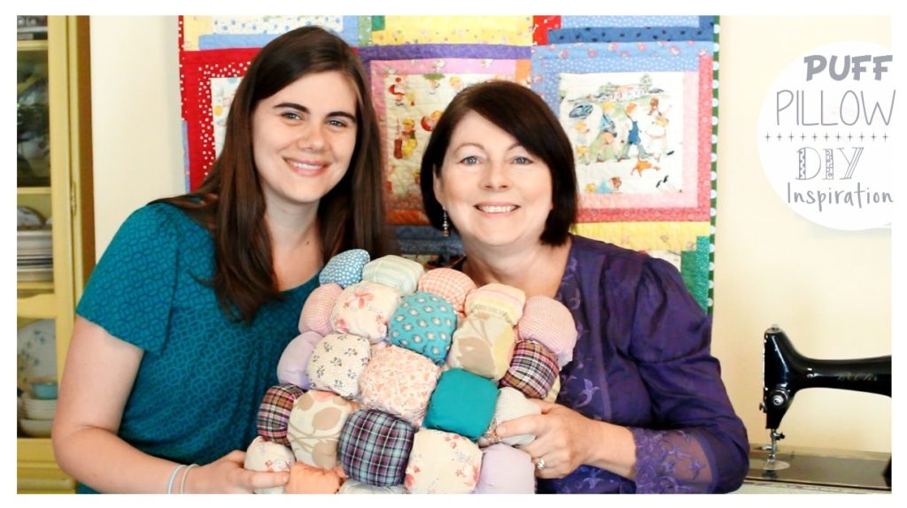 Puff Pillow DIY Inspiration from Whitney Sews and Mom