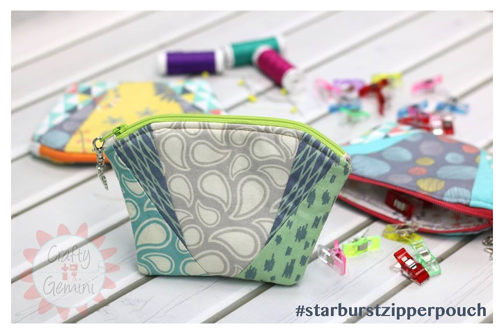 Starburst Zipper Pouch by Crafty Gemini