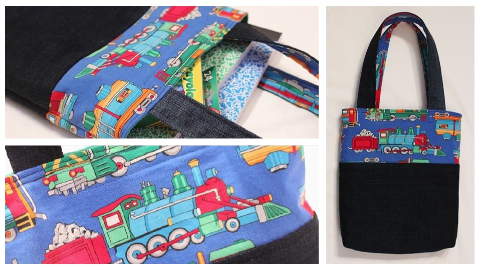 Lined tote bag video tutorials from Whitney Sews