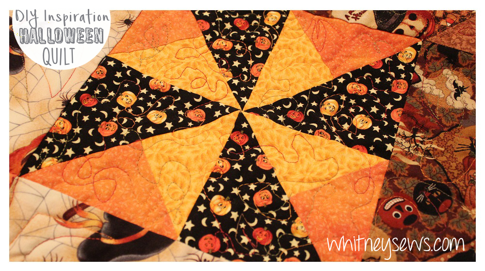 Halloween Quilt Block from Whitney Sews