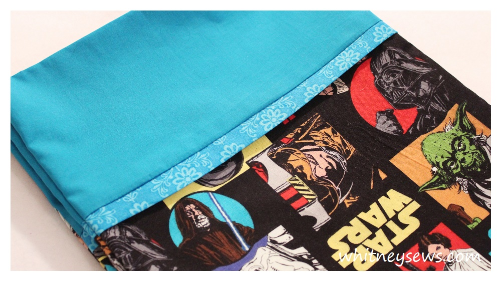 Star Wars Pillowcase How to from Whitney Sews
