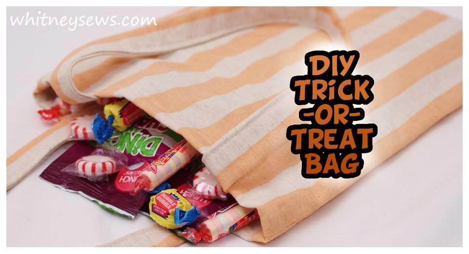 Trick or Treat French Seam Bag How to from Whitney Sews