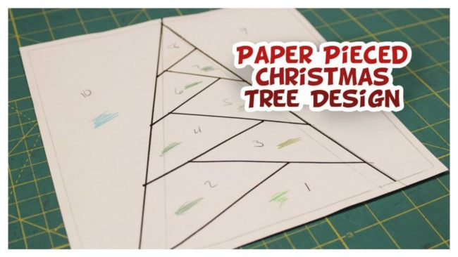 Christmas Tree Paper Piecing Design from Whitney Sews