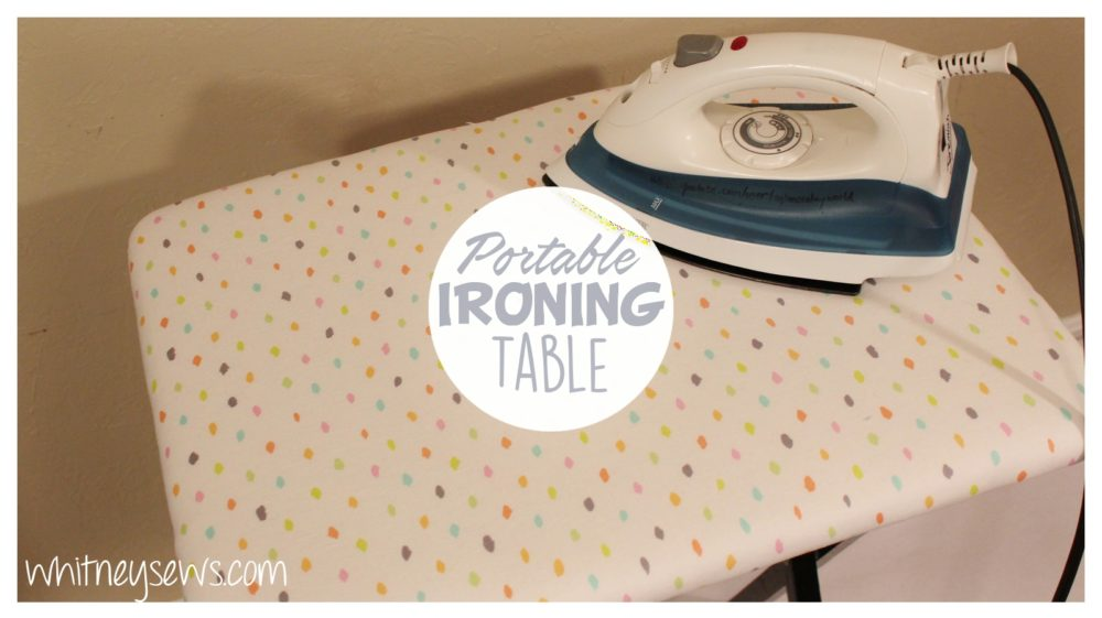 Folding Table Makeover! Transform an old folding table into a new ironing surface! Full FREE how to from Whitney Sews!