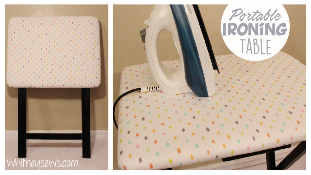 How to make your own portable ironing surface! Full video tutorial from Whitney Sews.