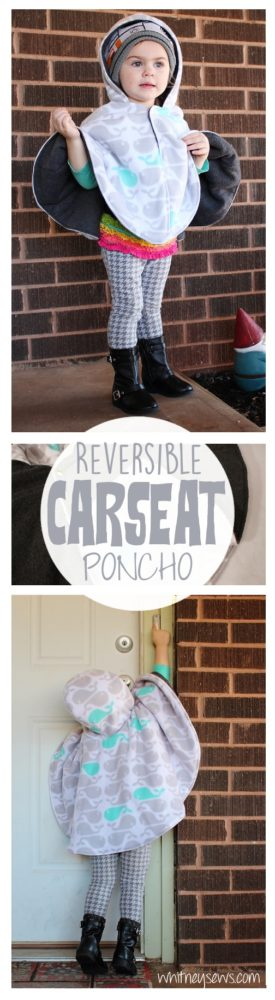 Reversible Carseat Poncho how to from Whitney Sews