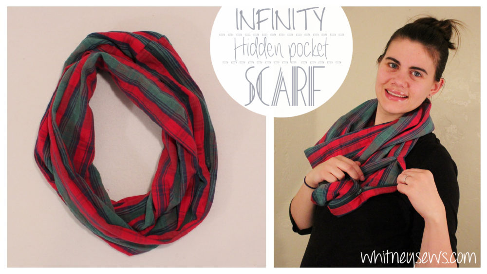 Infinity Scarf with Hidden Pocket How to from Whitney Sews