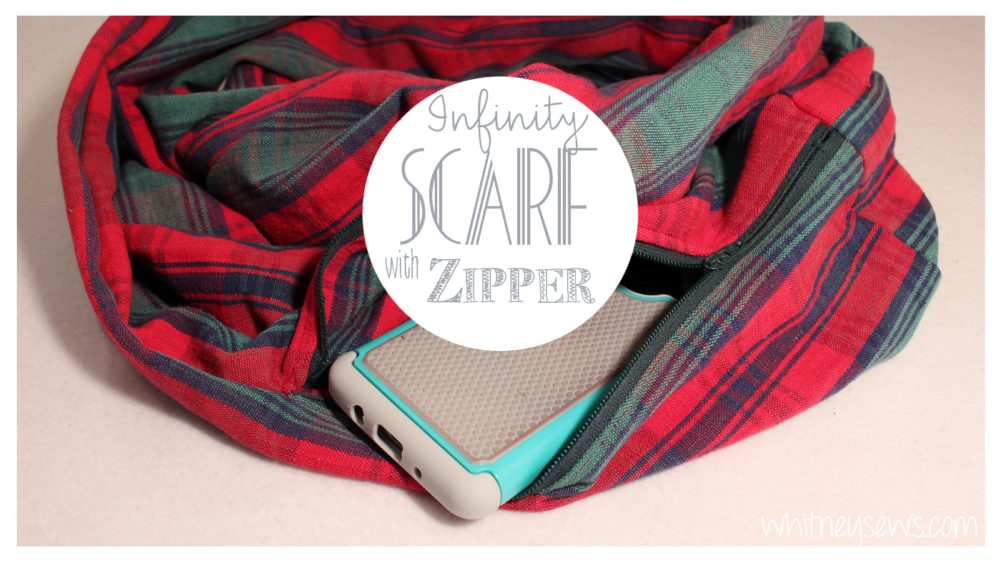 Hidden Pocket Infinity Scarf Video How to from Whitney Sews