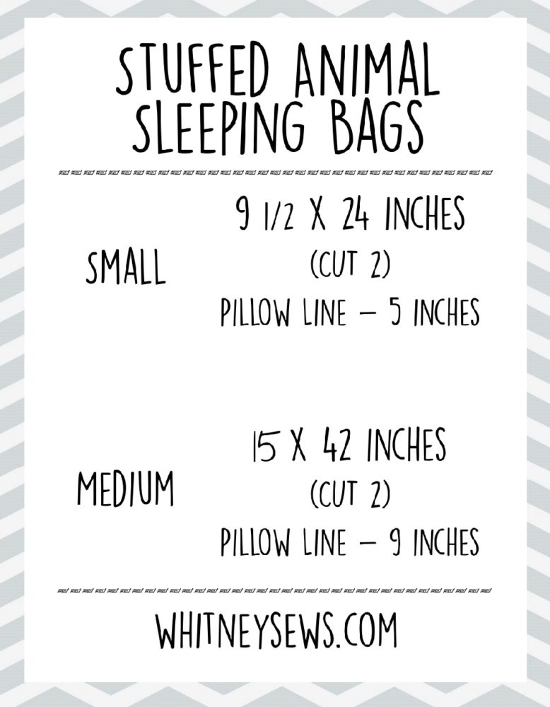 Sleeping Bag Measurement Chart