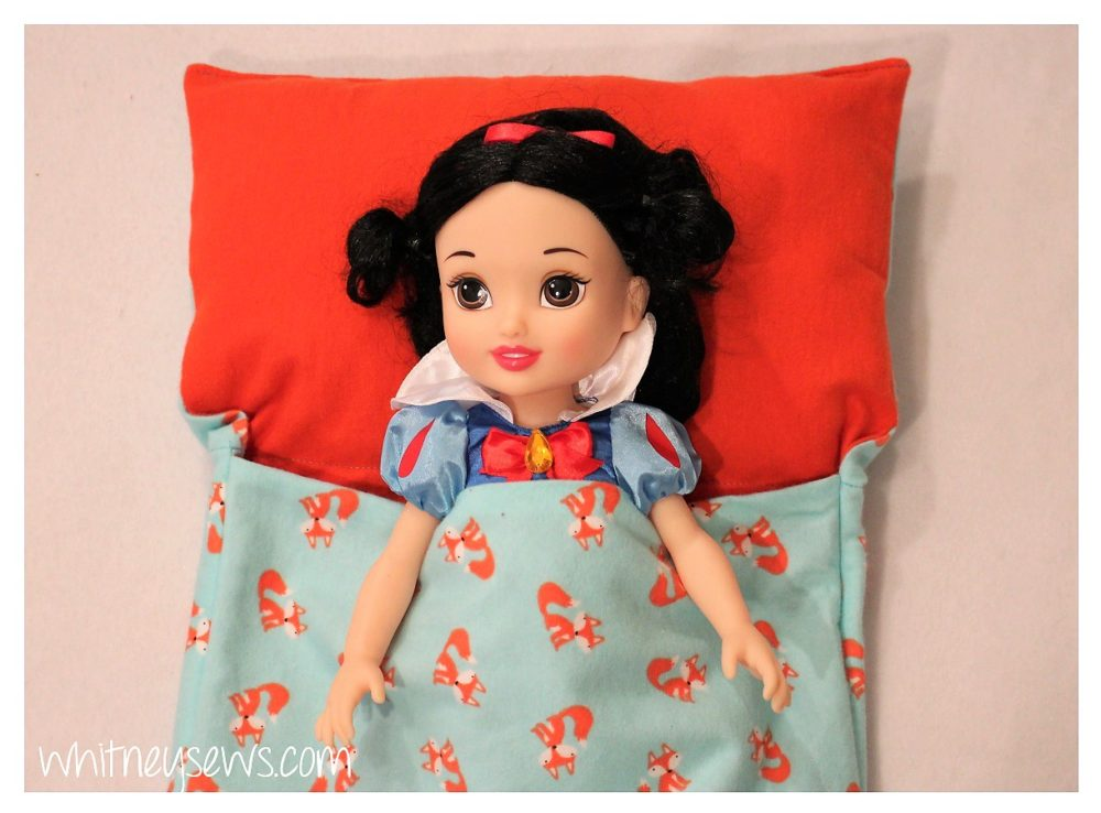DIY Doll Sleeping Bag by Whitney Sews