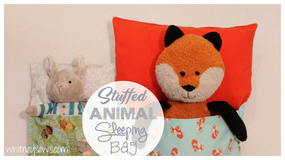 Stuffed Animal Sleeping Bag How to from Whitney Sews