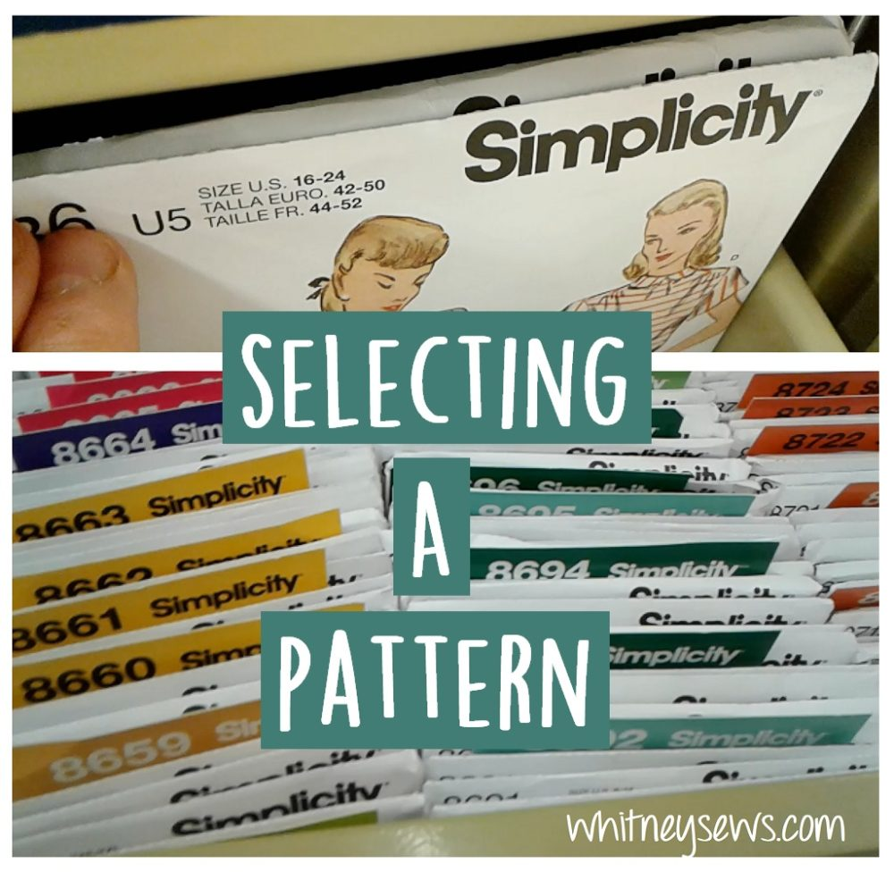 How to pick the perfect sewing pattern and understand the sizing