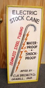 Farm Animal Electric Stock Can Shocker Vintage Sign