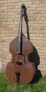 Vintage Old Original Bass guitar Trade Sign