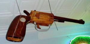 Pistol-Gun Trade Sign, Old Original & Vintage