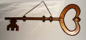Old Wood Trade Key Sign