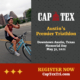 Cyclist competes in the CapTex Triathlon. Text on design reads Register Now for the 2021 CapTex Triathlon.