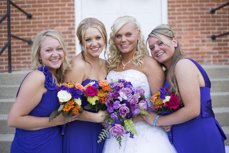 Jackson MI fall bridesmaids - Jackson, Michigan Wedding Photographer