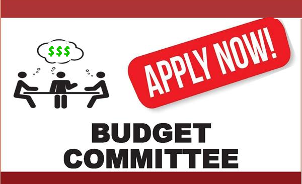 Budget Committee: Open Positions