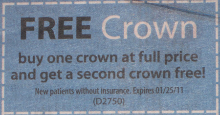 Buy one crown, get one free!