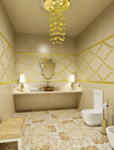 Maybe this is the style of bathroom in the New Jersey $3.5MM dental clinic?