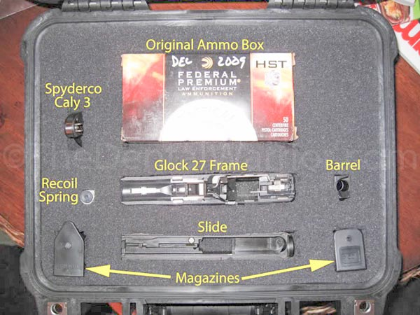 """While not necessary nor required, I prefer to """"field strip"""" my gun and pack it in pieces. My theory is that it looks less like a """"gun"""" when presented at check-in. The ticket agent may ask you to open the case to verify and place the firearms declaration tag in it. Any looky-loos standing in line behind me won't recognize it as a """"gun."""" We don't want to frighten the sheeple! With a smaller case, field-stripping may not be an option. Either way, it works."""