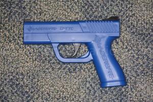 "LaserLyte ""Trigger Tyme"" training pistol."