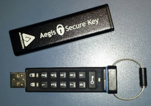 Encrypted flash / thumb drive.