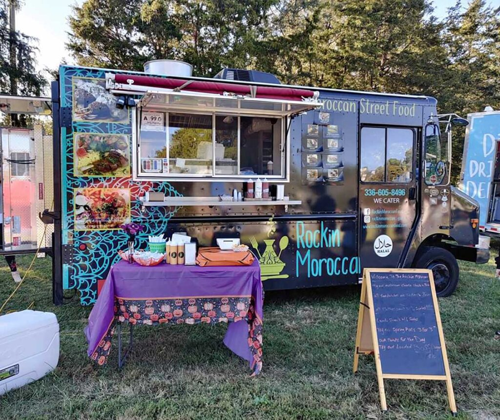 The Rockin Moroccan food truck debuted in July 2019.