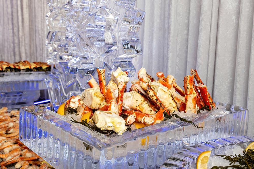 Iced seafood station