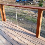 Exterior - Rear Deck Cable Rail Detail