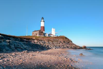 Montauk Point Lighthouse located adjacent to Montauk Point State Park