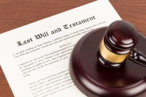 legal document for last will and testament