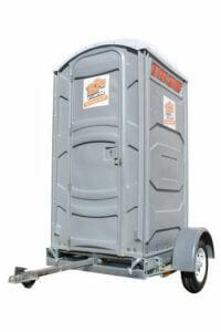 Standard Portable Restroom With Trailer for Rental