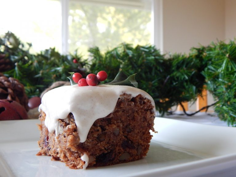 Apple & Pear Cake with Cinnamon Frosting | Anita's Organic Mill