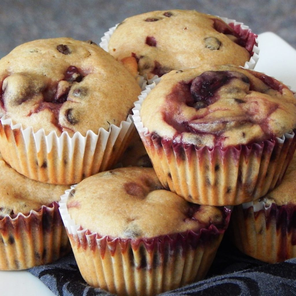 Cherry & Chocolate Chip Muffins | Anita's Organic Mill