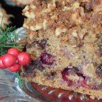 Festive Spelt Cranberry & Chocolate Crumb Cake   Anita's Organic Mill