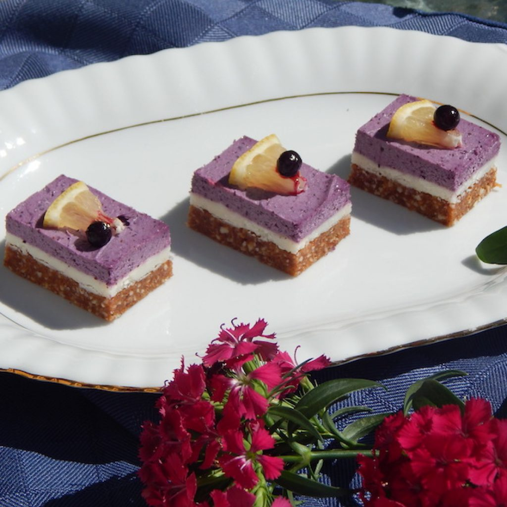 Lemon & Blueberry Coconut Slice | Anita's Organic Mill