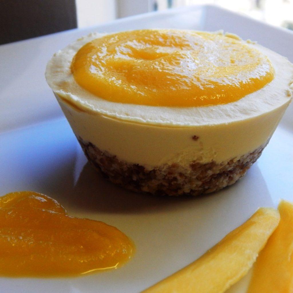 Raw Mini Mango Cheesecakes | Anita's Organic Mill
